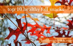 Top 10 Healthy Fall Snacks