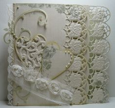 Beautiful card with Marianne Designs border dies.