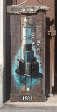 lighthouse-armen-wood float Finistere Atlantic-ar-men