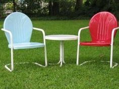 How to Paint an Old Metal Lawn Chair Decks Ideas, Crafts Ideas, Painting Old Metals Chairs, Outdoor, Lawns Furniture, Gardens, Porches, Old Metals Lawns Chairs, Crafty Ideas