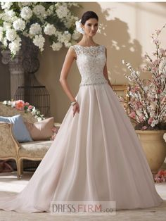 2015 Melting A Line Bateau Cap Sleeve Beaded Waistline Elastic Woven Satin Wedding Dress With Embroidery $221.99 Wedding Dresses