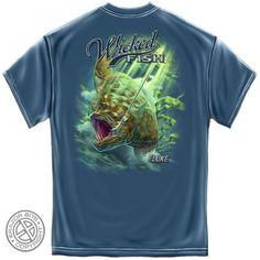 Mens Fluke Fishing Tee Shirt