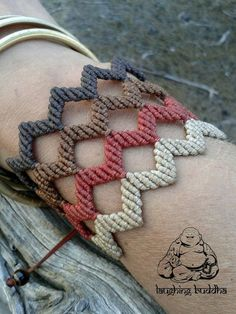Macrame bracelet handmade jewelry cuff by byLaughingBuddha on Etsy