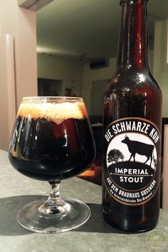 10-Oct-2015: Die Schwarze Kuh by Brauhaus Gusswerk. 9.2% ABV Imperial Stout. Lots of dark roast and anise / black liquorice flavor in this one. I like it quite a lot! #ottbeerdiary