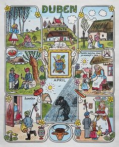 Contemporary Decorative Art, Naive Art, Baby Art, Children's Book Illustration, 1940s, Flower Art, Illustrators, Folk Art, Fairy Tales