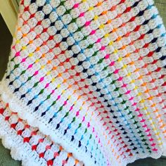 A personal favourite from my Etsy shop https://www.etsy.com/uk/listing/503907748/block-stitch-blanket