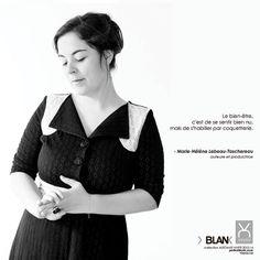 Le bien-être selon: Marie-Hélène Lebeau-Taschereau - Auteur et productrice québécoise  Robe Voyou