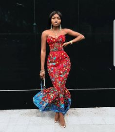 African prom dress /African fashion /party dress /African attire … by Zahra Delong - 2019 Trends Ankara Dress Styles, African Prom Dresses, African Fashion Dresses, Fashion Outfits, Ankara Skirt, Fashion Hacks, 50s Dresses, Elegant Dresses, Fashion Styles