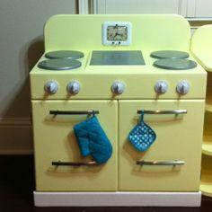 Play kitchen - Lily's retro kitchen (stove) handmade by grandma!