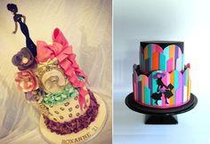bolos de moda por doces surpresas de Dee esquerda, bolos pequeno desejo direita