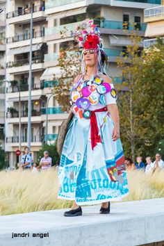 """Lia is proud to be announced as:""""Upcycling, the Alchimist of trash"""". Diy Upcycled Art, Thessaloniki, Recycled Materials, Catwalk, Harajuku, Creative, Artwork, Inspiration, Design"""