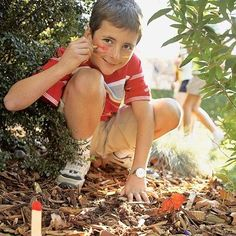Creative Camping Activities-  face paint tag- looks like fun for our camping trip