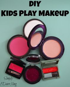 Whimsy Wednesday- How to make pretend makeup. A DIY kids play makeup tutorial.