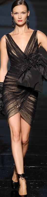 Fausto Sarli..Black Cocktail Dress..chic  sexy~