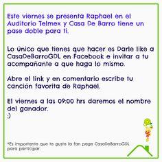 #MiGranNoche Raphael se presenta en GDL y Casa de Barro te invita. Gánate un pase doble: http://on.fb.me/1L2Mh1I