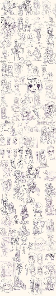 Uhh where to start... xD; A chibi collection of... many sort of things. Most of them are my OCs, and then some of our couple-characters with *Jumpix being the captain + seafox, and other versions o...