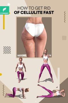 Most of women try to get rid of cellulite in different treatments. But, here is a natural way of toning your legs. Complete these four workouts to get rid of cellulite and tone those sexy legs. women HOW TO GET RID OF CELLULITE FAST Fitness Workouts, Fitness Herausforderungen, Gym Workout Tips, Fitness Workout For Women, Butt Workout, Easy Workouts, Workout Challenge, Workout Videos, At Home Workouts
