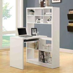 Monarch White Hollow-Core Corner Desk - Beyond the Rack