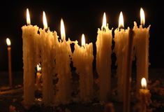 Beautifully melted church candles