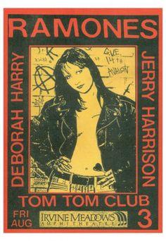 The Ramones, Deborah Harry, Jerry Harrison-music gig posters | The Ramones Poster, Vintage The Ramones concert poster, The Ramones ...