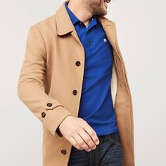 Guys a camel coat MUST have for the fall. GQ says the same thing.  Check this BR one out. #itsbanana . . . . #menstyle #dapper #menscoat #topcoat #musthaveit #musthaves #camel #camelcoat #memswear #favoritecoat #outerwear #coat