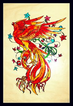 Phoenix(Glass Paint)
