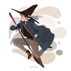 Lewis: A young witch who loves flying and hopes his familiar is an owl. Forgetful and clumsy but very loyal.
