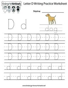 Letter M Worksheets Kindergarten Tracing Letter D Free Tracing Letter D Worksheet Free Letter Letter D Worksheet, Alphabet Writing Worksheets, Alphabet Writing Practice, English Worksheets For Kindergarten, Letter Worksheets For Preschool, Handwriting Practice Worksheets, Tracing Worksheets, Kindergarten Writing, English Alphabet Writing