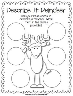 A Cupcake for the Teacher: Reindeer Games {Craftivity & Printables}