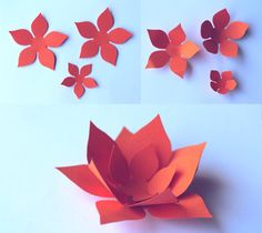 How to make paper flowers. DIY printable patterns and tutorial at happythought.co.uk
