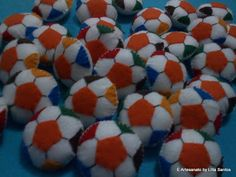 Lembrancinhas: Bolas de futebol perfumadas  by Litta Santos