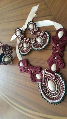 Items similar to soutache set on Etsy Soutache Pendant, Soutache Jewelry, Pendant Set, Quilling, 3 Piece, Washer Necklace, Billie Eilish, Brooches, Earrings