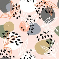 Vectro minimalist naive plants and blobs. Premium Vector - Vectro minimalist naive plants and blobs. Premium Vector The Effective Pictures W - Pattern Floral, Flower Pattern Design, Motif Floral, Surface Pattern Design, Pattern Art, Vector Pattern, Floral Prints, Cute Wallpapers, Wallpaper Backgrounds