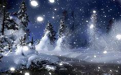 fondo de pantalla, invierno, noche, montañas, goodfon, brillante ...