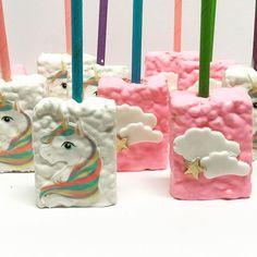 No photo description available. Chocolate Rice Crispy, Rice Crispy Treats, Chocolate Treats, Krispie Treats, Unicorn Birthday Parties, Unicorn Party, Birthday Fun, Birthday Ideas For Her, Birthday Goals