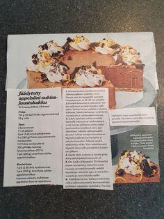Jäädytetty appelsiini-suklaa-juustokakku Bread, Food, Brot, Essen, Baking, Meals, Breads, Buns, Yemek