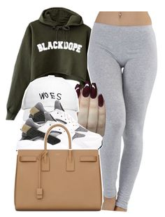 """""""idc 3.6.16"""" by thebaddestbaddie ❤ liked on Polyvore featuring October's Very Own, NIKE and Yves Saint Laurent"""