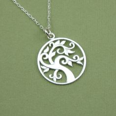 Celtic Tree Necklace , sterling silver, pendant, necklaces, handmade, tree pendant. $34.00, via Etsy.