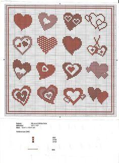 Mini Cross Stitch, Cross Stitch Heart, Knitting Yarn, Knitting Patterns, Crochet Patterns, Cross Stitch Designs, Cross Stitch Patterns, Cross Stitching, Cross Stitch Embroidery
