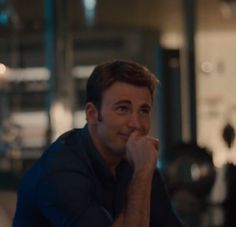 This is the face Steve makes at Tony as he tries to lift Mjolnir