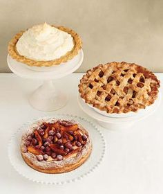 wedding pies!  Key Lime, Lemon, Coconut Cream, Banana Cream pies would all be great for warm weather wedding receptions.  Cool and creamy!