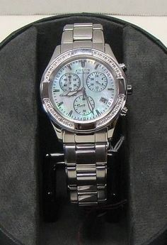 905ff7132 Ladies Citizen FB1220-53D Eco-Drive REGENT Chronograph Stainless MOP Dial  Watch | eBay