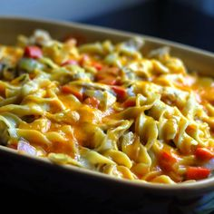 Chicken Egg Noodle Casserole Recipe from Grandmothers Kitchen. Chicken Egg Noodle Casserole, Turkey Casserole, Casserole Dishes, Casserole Recipes, Pasta Dishes, Food Dishes, Dishes Recipes, Main Dishes, Cooking Chicken To Shred