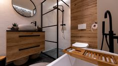 Home Design Plans, Small Bathroom, Bathrooms, Double Vanity, Sweet Home, Bathtub, Loft, House Design, Living Room