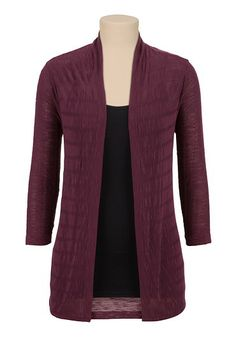 Open Front 3/4 sleeve Cardigan available at #Maurices