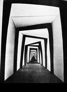 'Das Cabinet des Dr. Caligari', Robert Weine (1920). #GermanExpressionism #architecture #scenography
