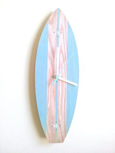 Handmade Surfboard Clock Beach House Decor by ClaysClocks on Etsy, $34.00