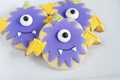 One eyed, on horned flying purple people eater cookies! via @bakeat350tweets