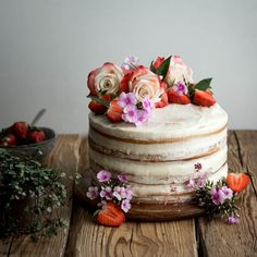 Beautiful Image of Vegan Birthday Cake Recipe . Vegan Birthday Cake Recipe Vegan Vanilla And Berry Layer Cake Lauren Caris Cooks Bolo Vegan, Cake Vegan, Food Cakes, Cake Recipes, Vegan Recipes, Dessert Recipes, Birthday Cake 30, Vegan Wedding Food, Vegan Wedding Cakes