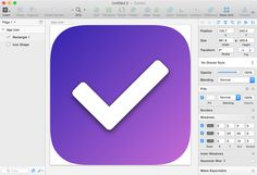 Sketch 3 tutorial step 5 | styling the todo list tick icon Todo List, Sketches Tutorial, Airwalk, App Icon, Bohemian, Tutorials, Design, Style, Swag